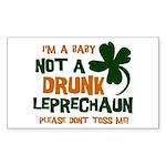 Baby Not Leprechaun Rectangle Sticker 50 pk)