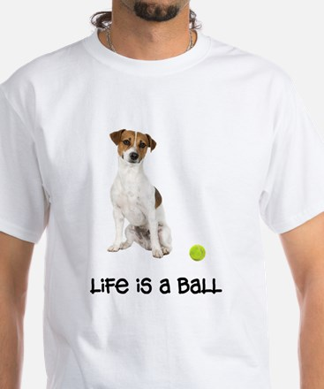 Jack Russell Terrier Life White T-Shirt