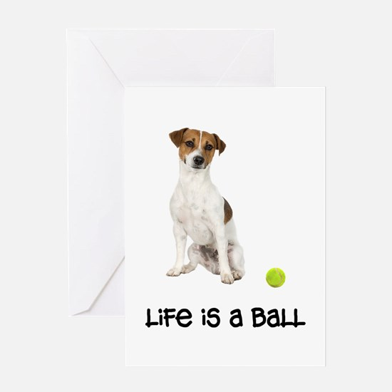 Jack Russell Terrier Life Greeting Card
