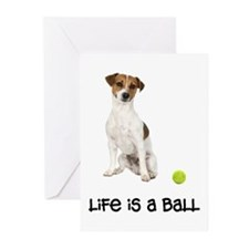 Jack Russell Terrier Life Greeting Cards (Pk of 10