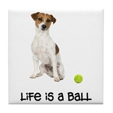 Jack Russell Terrier Life Tile Coaster