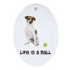 Jack Russell Terrier Life Ornament (Oval)