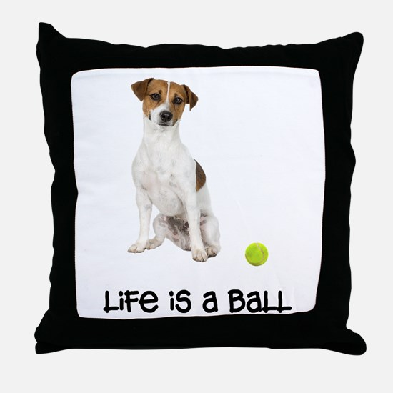 Jack Russell Terrier Life Throw Pillow
