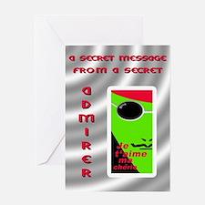 SECRET ADMIRER Greeting Card
