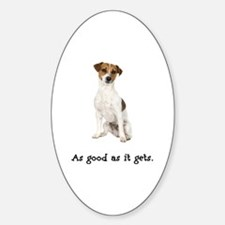 Good Jack Russell Terrier Oval Decal