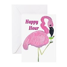 FLAMINGO COCKTAIL Greeting Cards (Pk of 10)