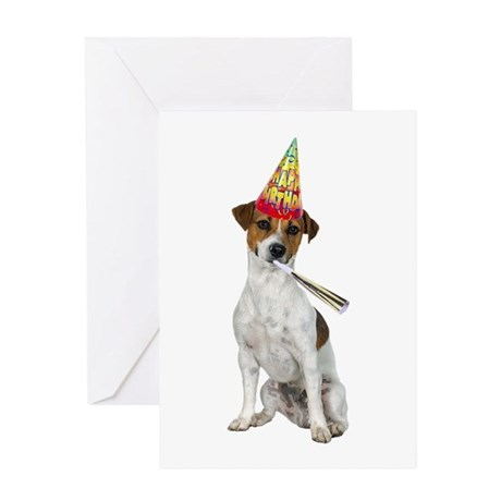 Jack Russell Terrier Birthday Greeting Card