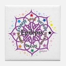 Epilepsy Lotus Tile Coaster