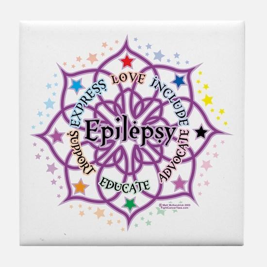 Epilepsy Lotus Tile Coaster