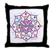 Epilepsy Lotus Throw Pillow