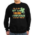 Kid Not Leprechaun Sweatshirt (dark)