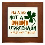 Kid Not Leprechaun Framed Tile