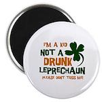 """Kid Not Leprechaun 2.25"""" Magnet (100 pack)"""