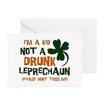 Kid Not Leprechaun Greeting Cards (Pk of 20)