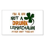 Kid Not Leprechaun Rectangle Sticker 10 pk)
