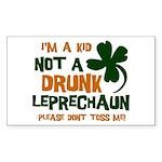Kid Not Leprechaun Rectangle Sticker 50 pk)