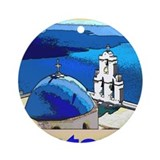 Santorini greece Ornaments