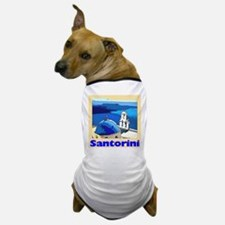Santorini Greece Dog T-Shirt