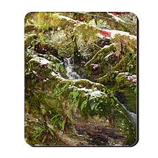 Waterfall in snow Mousepad