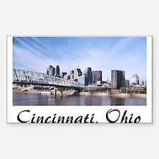 Cincinnati Ohio Rectangle Decal