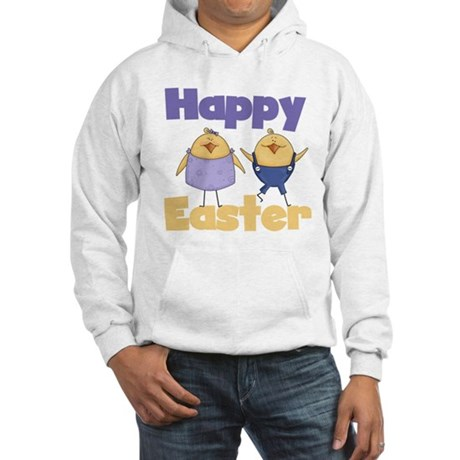 Chicks Happy Easter Hooded Sweatshirt