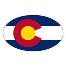 Colorado State Flag Oval Decal