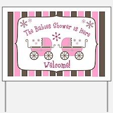 Babie's Shower - Twin Girls Yard Sign