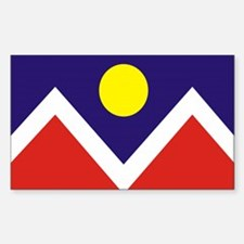 Denver City Flag Rectangle Sticker 10 pk)
