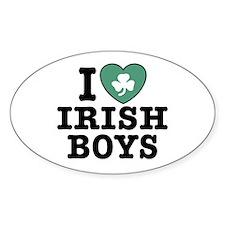 I Love Irish Boys Oval Decal