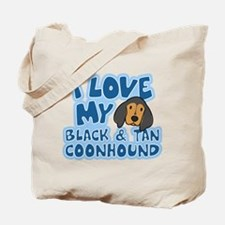 I Love my BT Coonhound Tote Bag