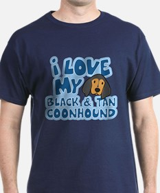 I Love my BT Coonhound T-Shirt
