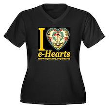 Personalized e-Hearts Women's Plus Size V-Neck Dar