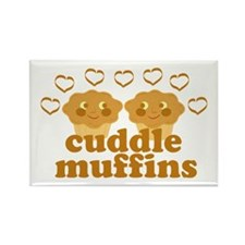 Cuddle Muffins in Love Rectangle Magnet