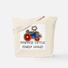 Papa's little farm hand Tote Bag