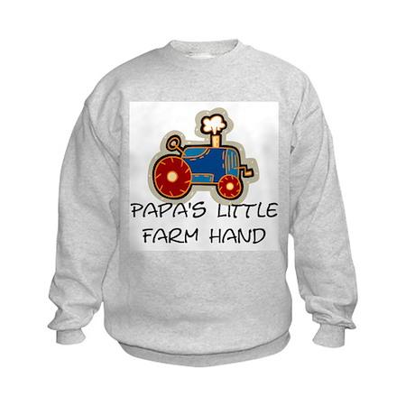 Papa's little farm hand Kids Sweatshirt