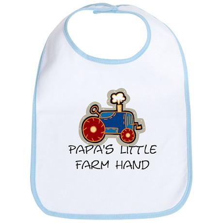 Papa's little farm hand Bib