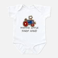 Papa's little farm hand Infant Bodysuit