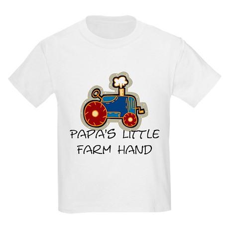 Papa's little farm hand Kids Light T-Shirt