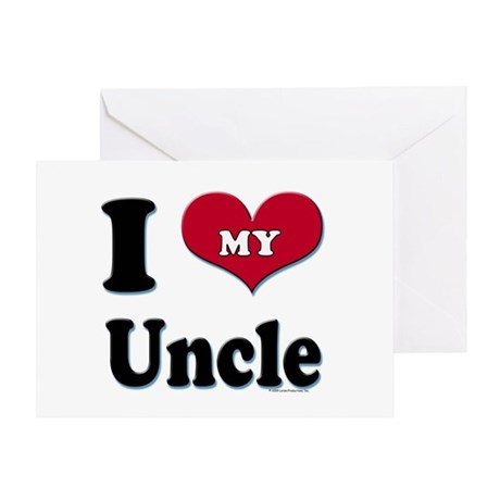 I Love My Uncle Greeting Card W Greeting Inside By