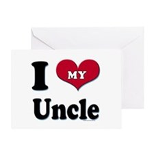 I Love My Uncle Greeting Card, blank inside