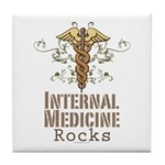 Internal Medicine Rocks Tile Coaster