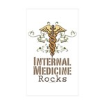 Internal Medicine Rocks Rectangle Sticker 50 pk)