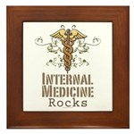 Internal Medicine Rocks Framed Tile