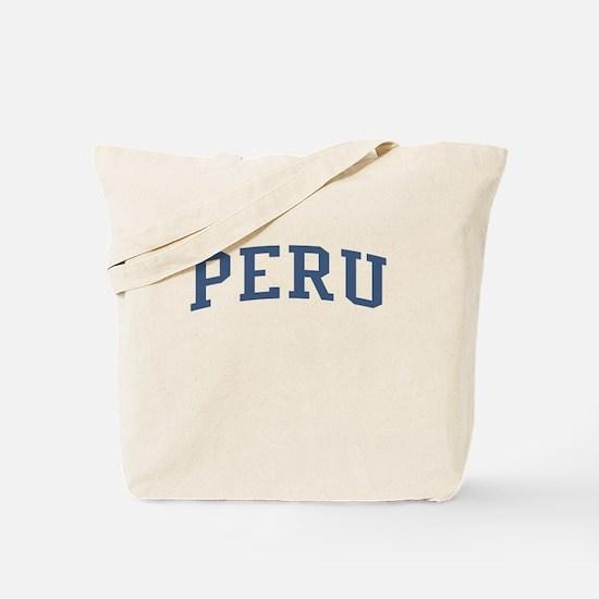 Peru Blue Tote Bag