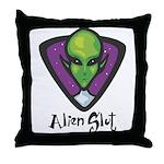 Alien Slut Throw Pillow