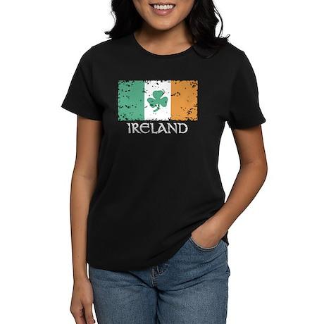 Ireland Flag Women's Dark T-Shirt