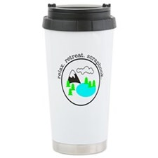 retreat. relax. scrapbook. - Travel Mug
