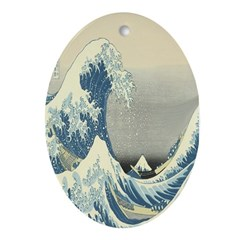 The Wave Oval Ornament