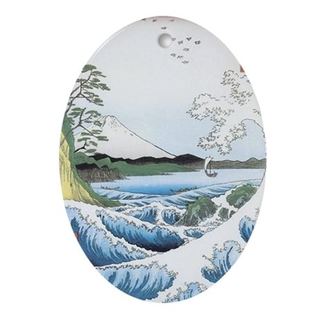 Seascape Oval Ornament