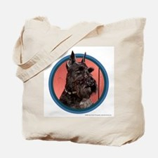 Black Miniature Schnauzer Art Tote Bag
